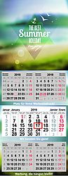 5-month calendar QUINTAS XL large