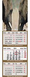 5-month calendar QUINTAS XL medium