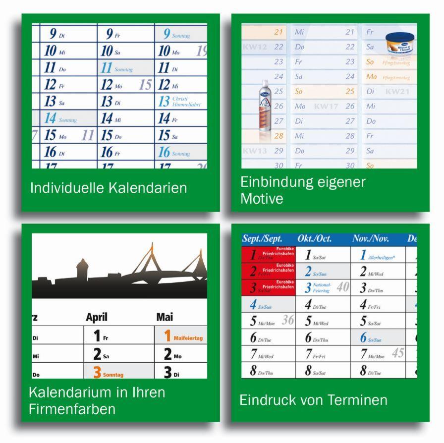 Plakatkalender Querformat klassisch