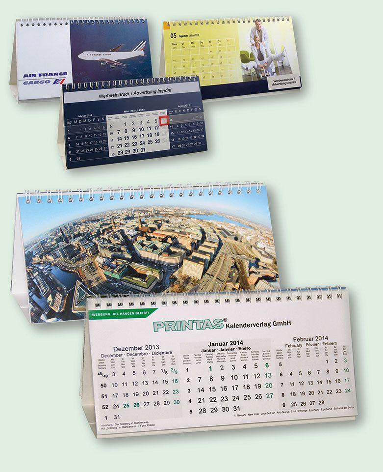 3-Monats Tischkalender Querformat